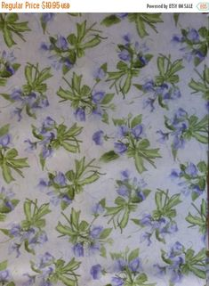 CLEARANCE SALE Cotton Fabric, Quilt, Home Decor, Floral~ A 1/2 Yard Piece~~Dolce by Debbie Beaves for Rjr Fabrics~Fast Shipping F342