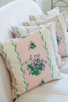 Vintage Fabric Cushion www.decorativecountryliving.com