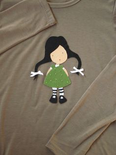 Camiseta m/l con otro diseño de muñeca Gorjuss