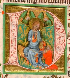 Christ within initial D | Antiphonary | Czech Republic, Prague | ca. 1400-1410 | The Morgan Library & Museum