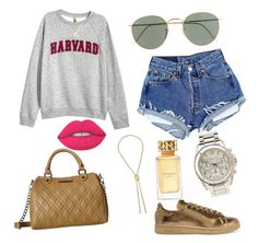 """""""Harvard Day"""" by everybodylovesblk on Polyvore featuring adidas Originals, H&M, Steve Madden, J.Crew, Diane Von Furstenberg, Charlotte Russe, Tory Burch and Lime Crime"""