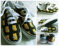 Bart Simpson sneakers. https://www.facebook.com/photo.php?fbid=471124169665768&set=a.266868620091325.56487.250924128352441&type=1&theater