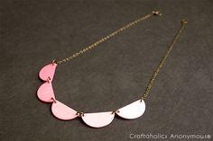 Craftaholics Anonymous® | DIY Scallop Necklace Tutorial
