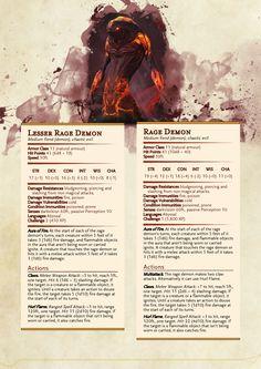 Lesser Rage Demon: DnD 5e Homebrew