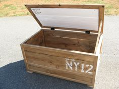 Trunk/Table made from Reclaimed Wood. $600.00, via Etsy.