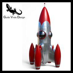 3d model Space Rocket