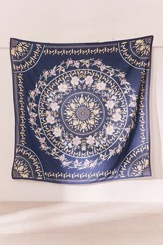 Shop Sketched Floral Medallion Tapestry at Urban Outfitters today. We carry all the latest styles, colors and brands for you to choose from right here. Tapestry Nature, Blue Tapestry, Tapestry Bedroom, Mandala Tapestry, Wall Tapestry, Zen Room, Dreams Beds, Teen Room Decor, Headboards For Beds