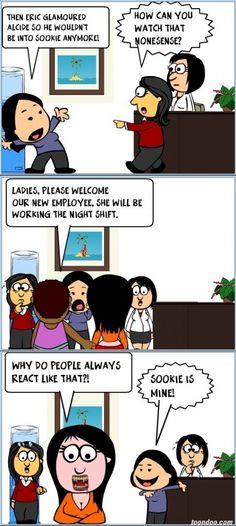 True Blood - New employee is a vampire!
