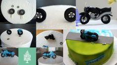 Anleitung für Tortendekoration Motorrad aus Modellierfondant HP