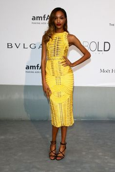 Jourdan-Dunn Balmain fall 2014 dress