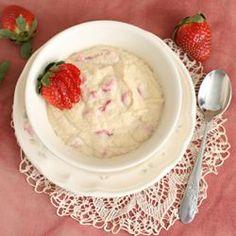 Sweet Basil 'n Spice: Grain-Free Strawberries 'n Cream Porridge