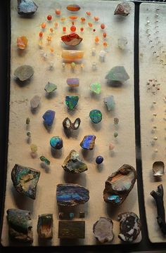 Opal Gemstones collection of American Museum of Natural History - NYC
