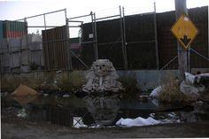 Tutto Banksy a New York - Queens Una replica della sfinge di Giza fatta con l'acciottolato.