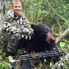 Who else has been into the bears?  A nice black bear taken recently with the bow in Alberta by Dylan @dylan_schaefer.  Nice work mate great to see it all firing up in the Northern Hemisphere. Promote Hunting or it shall Perish learning more at http://ift.tt/1hIKQNh