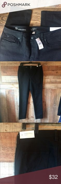 "Ann Taylor LOFT Black Skinny Jeans sz 10 NWT Modern Skinny Jeans.  Slim through hip and thigh, skinny leg.  Size 10, 16"" across waist, 9"" rise, 31"" inseam.   Never worn, tags attached! LOFT Jeans Skinny"