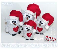 Weihnachtseule Santa Kate aus der Serie Weihnachtseulig
