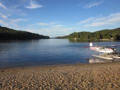 Long Lake, in the Adirondacks. Sea plane ride was real cool.