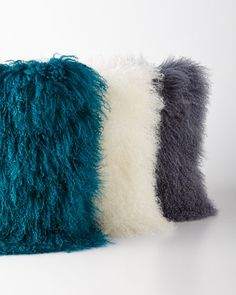 Shop Teal, White, & Steel Tibetan Lamb Pillows from Massoud at Horchow, where you'll find new lower shipping on hundreds of home furnishings and gifts. White Pillows, Throw Pillows, Teal And Grey, Gray, Beds For Sale, Pillow Sale, Bed Design, Luxury Bedding, Lamb