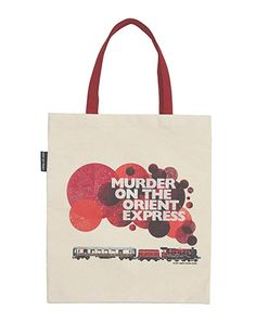 Book cover tote bag of Murder on the Orient Express by Agatha Christie. Purchase of this tote sends one book to a community in need. Maya Angelou, Agatha Christie, Canvas Messenger Bag, Canvas Tote Bags, Sherlock, Book Lovers Gifts, Nerd Gifts, Orient Express, Nylon Bag
