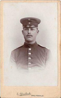 CDV photo Soldat - Greifswald 1900er | eBay | E. Glaubach, Greifswald