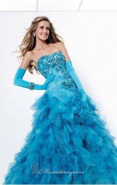 Unique A Line Tulle Sequined Blue quinceanera dresses Mini Prom Dresses, Prom Dresses For Sale, Sweet 16 Dresses, Dresses 2013, Sexy Dresses, Strapless Dress Formal, Beautiful Dresses, Awesome Dresses, Grad Dresses