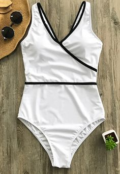 Treat yourself something special~ Elegant Cupshe Pure Joy Binding One-piece Swimsuit gonna give you better swimming experience than ever~ Details make it unique: binding design & slant closure & removalble padding bra. Comfy and Chic! Shop now with free shipping~