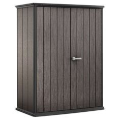 Keter High Store Dark Grey Resin Wood Look and Feel Outdoor Garden Storage Shed (Dark Grey) (Plastic) Garden Tool Shed, Garden Storage Shed, Outdoor Storage Sheds, Diy Shed, Sheds For Sale, Outside Storage, Clutter Solutions, Tool Sheds, Building A Shed