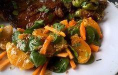 Mandarine Orange Spinach Salad With Lemon Honey Ginger Dressing Recipe - Recipezazz.com