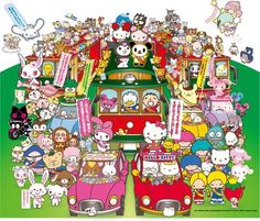 Sanrio characters - Hello Kitty, Pekkle, My Melody, Patty & Jimmy, Jewel Pet & More.