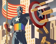 Yes someone upgrade caps suit to look like that during pride month ️