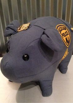 Law Enforcement or Military Retirement Gifts.  Each piglet is hand-made with their own uniforms! www.pig-skin.com Military Retirement, Retirement Gifts, Memory Bears, Police Officer Gifts, Law Enforcement, Bacon, Guns, Memories, Patterns