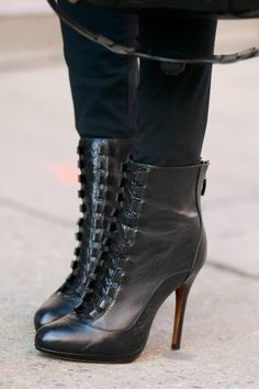 Victorian Inspired ankle boots - seen during fashion week