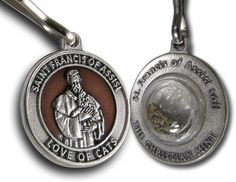 Francis of Assisi Enameled Pet Medal for Cats with Capsule of Assisi Soil ** Check this awesome product by going to the link at the image. (This is an affiliate link and I receive a commission for the sales) Francis Of Assisi, St Francis, Cat Id Tags, Cat Training Pads, Cat Shedding, Cat Fleas, Cat Memorial, Cat Accessories, Flea And Tick