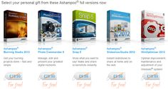 Select your desired software programs from these five Ashampoo full versions to the value of USD 124.95absolutely free, instant and guaranteed without obligations!Enter the download code ASH-444LW1in order to activate the access to your gifts.Then download, install and use one or even all of the fi