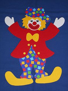 Fensterbild Tonkarton Clown Poldi karo 30 cm Fasching Helau Karneval NEU - Ruth W - Dekoration Clown Crafts, Circus Crafts, Carnival Crafts, Cd Crafts, Hobbies And Crafts, Diy And Crafts, Crafts For Kids, Arts And Crafts, Paper Crafts
