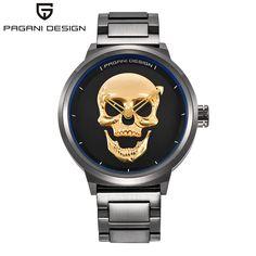 US $95.60 - 2017 Pagani Pirate Skull Style Quartz Men Watches Brand Man Military Silicone Mens Sports Watch Waterproof Relogio Masculino