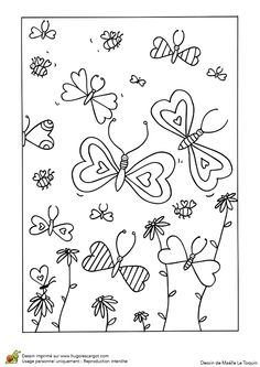 A colorier, cette carte de voeux comporte des papillons avec des ailes en forme…