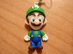 #fimo clay hearring luigi