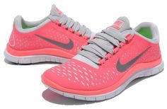 Nike Free 3.0 V 4 Women's Running Shoes Pink / Coral Color - Size 8.5 #Nike #RunningCrossTraining