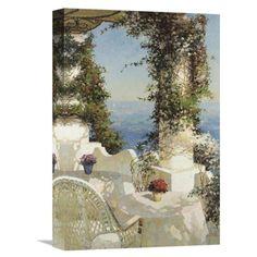 Global Gallery Positano Seascape Wall Art #romanticcottage Romantic Cottage, Positano, Wall Art, Gallery, Painting, Positano Italy, Roof Rack, Painting Art, Paintings