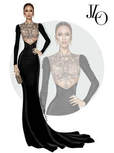 Jennifer Lopez in Reem Acra at Peoples Choice Awards #Digitaldrawing by David Mandeiro Illustrations #Digitalart #digital #Fashion #Wacom #JLO #JenniferLopez #PeoplesChoiceAwards #AdobePhotoshopElementsEditor #Wacomcreativeseurope