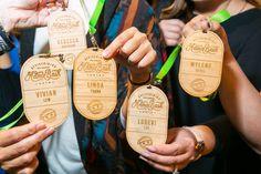 Name Badges 6 - Admin Bash Conference Badges Conference Badges, Name Tag Design, Personalized Luggage Tags, Desk Name Plates, Event Branding, Name Badges, Cool Names, Paper Goods, Events