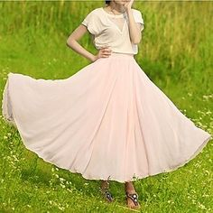 Women's Fashion Bohemian Chiffon Skirt - USD $ 16.19