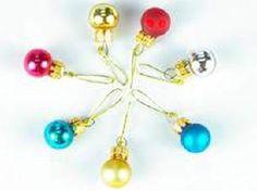 Dolls House Miniature Christmas Decoration Glass Balls - Over 10,000 other miniature dollshouse items in stock! Visit www.thedollshousestore.co.uk