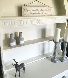 Detailing on Dutch dresser painted in Annie Sloan original paint