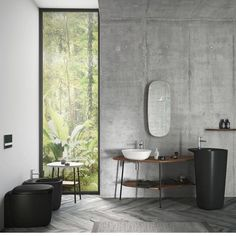 The new 'Plural' collection by Milan-based designer Terri Pecora features contemporary furniture including basins of overlapping heights that contribute to a design-led bathroom space. Interior Trend, Bathroom Design, House Interior, Vitra, Interior, Vitra Bathrooms, Best Bathroom Designs, Contemporary Furniture, Bathroom Decor