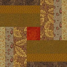 My Woven Logs quilt pattern shows you how make a quilt from 10-inch square patchwork quilt blocks that are assembled using the partial seams technique.