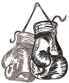 Boxing gloves free embroidery design - Sport - Machine embroidery forum