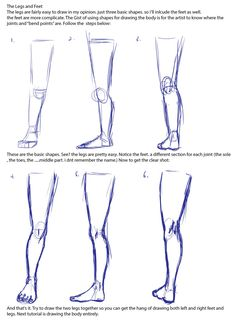 How to draw human leg consider