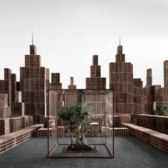 Bricks Decoded: The Minimal City by Matteo Mezzadri | https://www.yellowtrace.com.au/matteo-mezzadri-miniature-city-created-from-bricks/